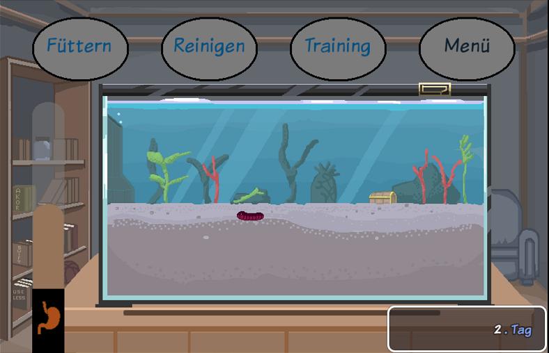 screen der Spieleentwicklung von seegurkotchi
